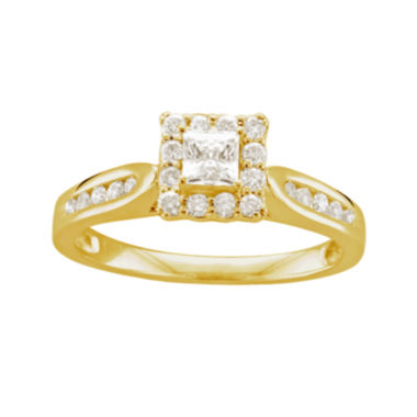 jcpenney.com | 1/2 CT. T.W. Diamond 14K Yellow Gold Princess Ring