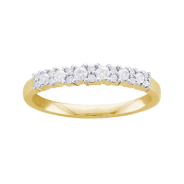 jcpenney.com | 1/4 CT. T.W. Diamond 10K Yellow Gold Anniversary Band