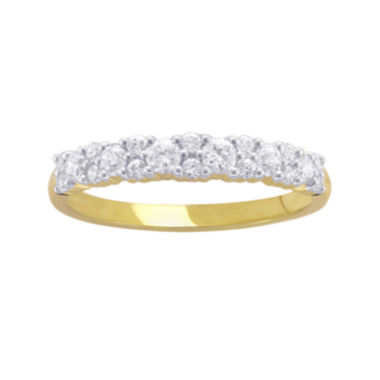 jcpenney.com | 1/2 CT. T.W. Diamond 10K Yellow Gold Anniversary Band
