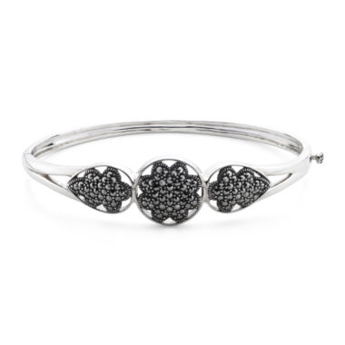 jcpenney.com | Pavé Marcasite Sterling Silver Floral Bangle