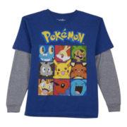 Pokemon Long-Sleeve Graphic Knit Tee – Boys 6-18