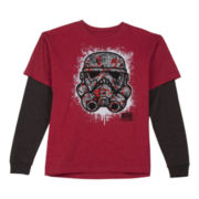 Star Wars Long-Sleeve Graphic Knit Tee – Boys 6-18