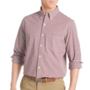 IZOD® Long-Sleeve Slim-Fit Gingham Shirt