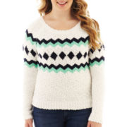 Arizona Long-Sleeve Fair Isle Sweater - Plus