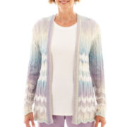 Alfred Dunner® A Fine Romance Chenille Cardigan Sweater - Petite