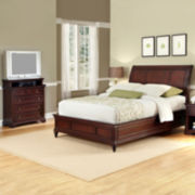 Roxberry Sleigh Bed or Headboard and Media Chest