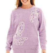 Alfred Dunner® A Fine Romance Long-Sleeve Paisley Print Sweater