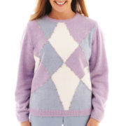 Alfred Dunner® A Fine Romance Long-Sleeve Colorblock Chenille Top