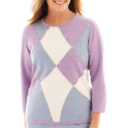 Alfred Dunner® A Fine Romance 3/4-Sleeve Colorblock Top