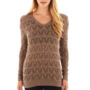 i jeans by Buffalo Long-Sleeve V-Neck Tunic Sweater