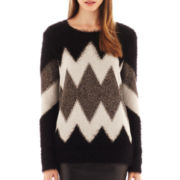 i jeans by Buffalo Long-Sleeve Zig-Zag Sweater