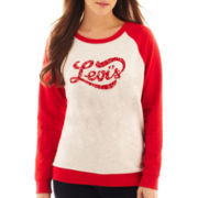 Levi's® Script Canvas Fleece Crewneck Sweatshirt
