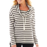 St. John's Bay® Long-Sleeve Cowlneck Tunic - Tall