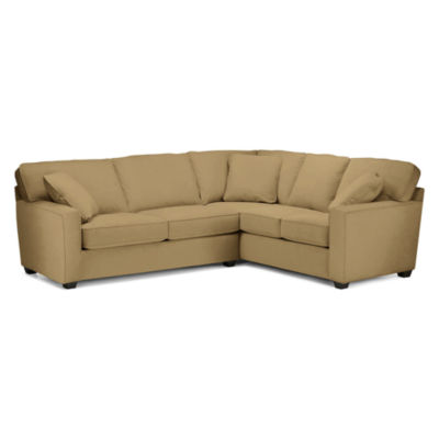 Fabric Possibilities Track-Arm 2-pc. Left-Arm Sleeper Sofa Sectional