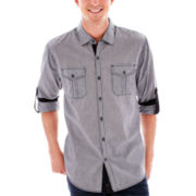 Michael Brandon Long-Sleeve Microstriped Woven Shirt