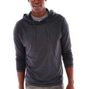 Michael Brandon Long-Sleeve Slub Hoodie