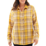 St. John's Bay® Flannel Shirt - Plus
