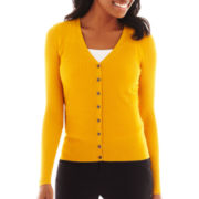 Worthington® Long-Sleeve V-Neck Cardigan Sweater