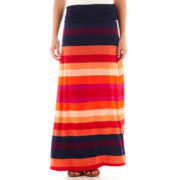 a.n.a® Striped Print Foldover Maxi Skirt