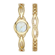 Womens Crystal Glitz Watch and Bracelet Set