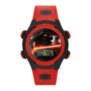 Star Wars® Darth Vader Kids Red and Black Print Strap LCD Digital Watch