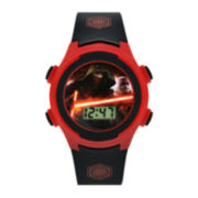 Star Wars® Darth Vader Kids Black and Red Print Strap LCD Digital Watch