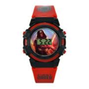 Star Wars® Darth Vader Kids Red and Black Print Strap LCD Digital Watch