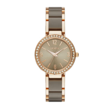 jcpenney.com | Geneva Womens Crystal-Accent Two-Tone Bracelet Watch