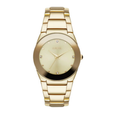 jcpenney.com | Geneva Womens Crystal-Accent Gold-Tone Bracelet Watch