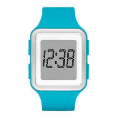 jcpenney.com | Womens Rectangular Blue Silicone Strap Digital Watch