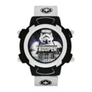 Star Wars® Stormtrooper Kids White Fast Strap LCD Digital Watch
