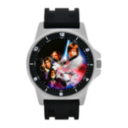 Star Wars® Mens Black Silicone Strap Watch