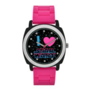 Star Wars® I Love Star Wars Womens Pink Silicone Strap Watch