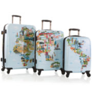 Heys® FTV World Map 3-pc. Hardside Spinner Luggage Set