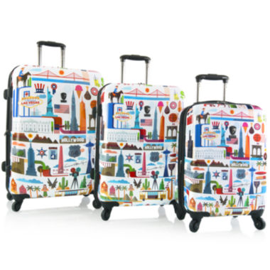 jcpenney.com | Heys® FVT U.S.A. 3-pc. Hardside Spinner Luggage Set