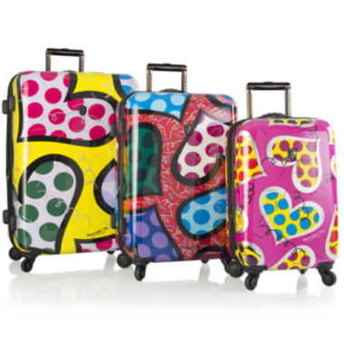 jcpenney.com | Heys® Britto Hearts Carnival 3-pc. Hardside Spinner Luggage Set