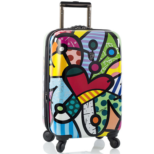 """Heys® Britto Butterfly Love 21"""" Hardside Carry-On Spinner Upright Luggage"""