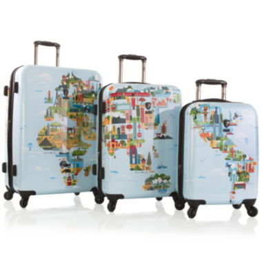 jcpenney.com | Heys® FTV World Map Hardside Spinner Luggage Collection