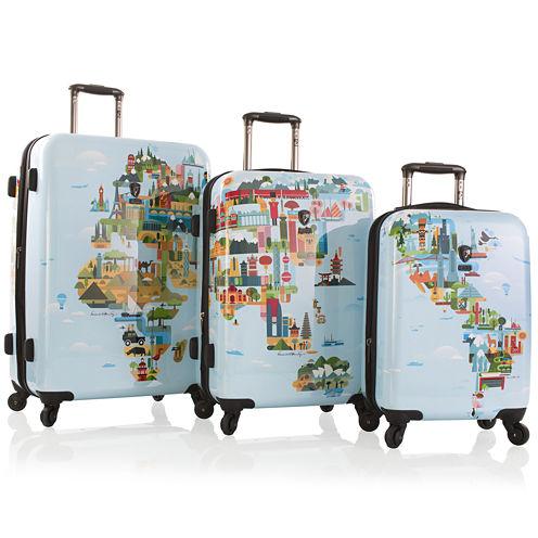Heys® FTV World Map Hardside Spinner Luggage Collection