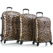 Heys® Exotic Leopard 3-pc. Hardside Spinner Luggage Set