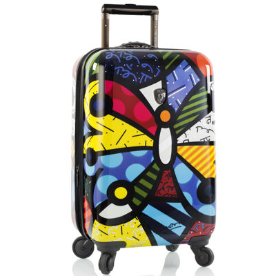 "Heys® Britto Butterfly 21"" Hardside Carry-On Spinner Upright Luggage"