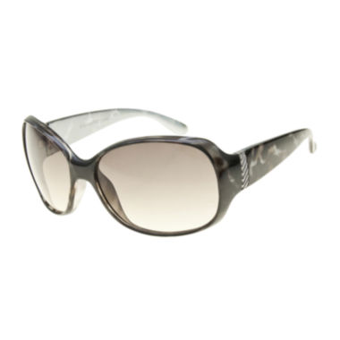 jcpenney.com | Black Label by Evan-Picone Textured Oval Sunglasses
