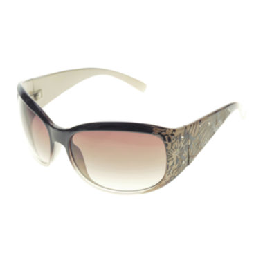 jcpenney.com | Bisou Bisou® Etched Floral Oval Sunglasses