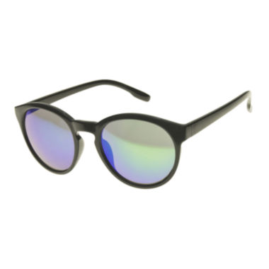 jcpenney.com | Arizona Round Black Sunglasses with Blue Lenses