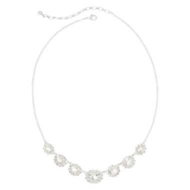 jcpenney.com | Vieste® Graduated Glass Stone Necklace