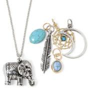 Decree® 6-pc. Elephant Cluster Charm Two-Tone Necklace