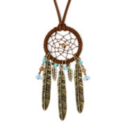 Decree® Multicolor Bead Dream Catcher Gold-Tone Necklace