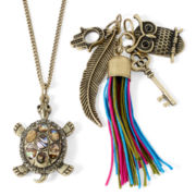 Decree® Interchangeable 6-pc. Gold-Tone Charm Necklace