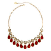 Liz Claiborne® Red Stone Teardrop Necklace