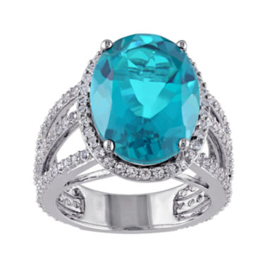 jcpenney.com | Genuine Blue Quartz and White Topaz Ring